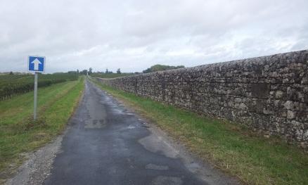 Le long du château d'Issan